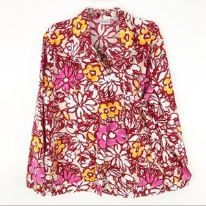 Zenergy by Chicos 70's floral zip up jacket